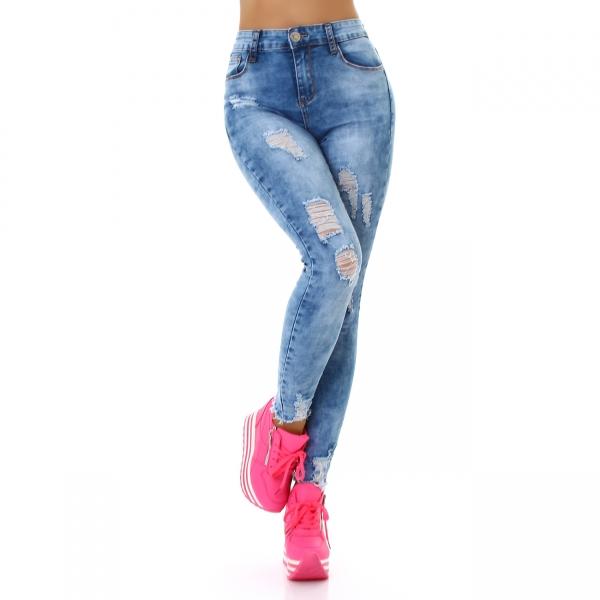 Sexy Highwaist Skinny Jeans Destroyed Look