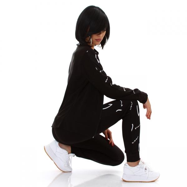 Sexy Jogging-Anzug mit Zipp und Print