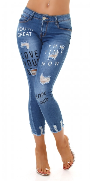 Sexy Jeans Destroyed with Print