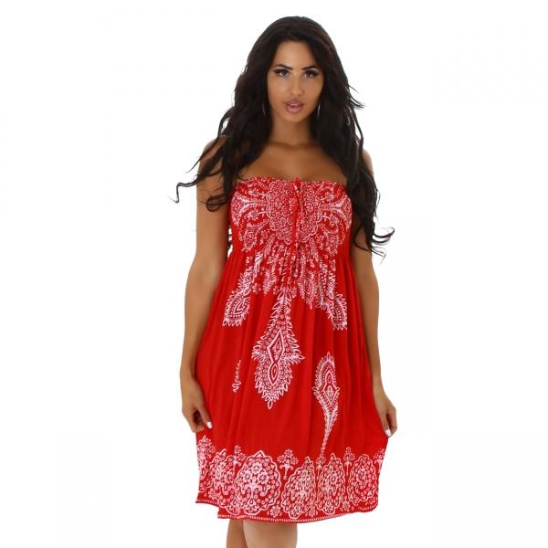Sexy Bandeau Dress with Print