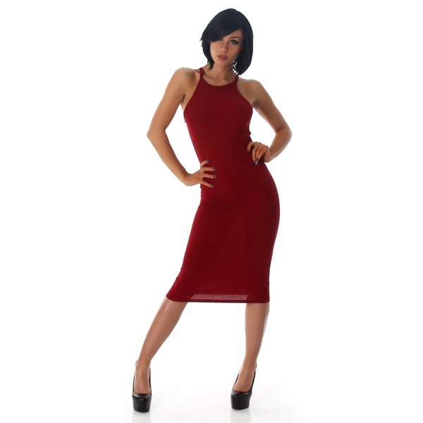 Sexy Feinripp Kleid