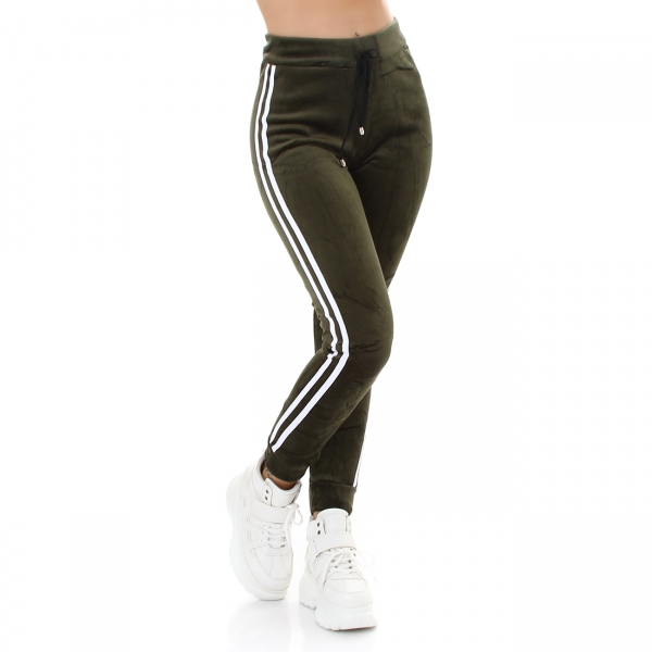 Sexy Sport Hose Samt Look Thermo