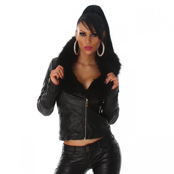 Jacket faux leather 3B209