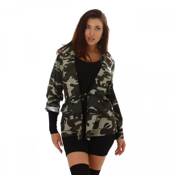 Sexy Camouflage Jeans Jacket