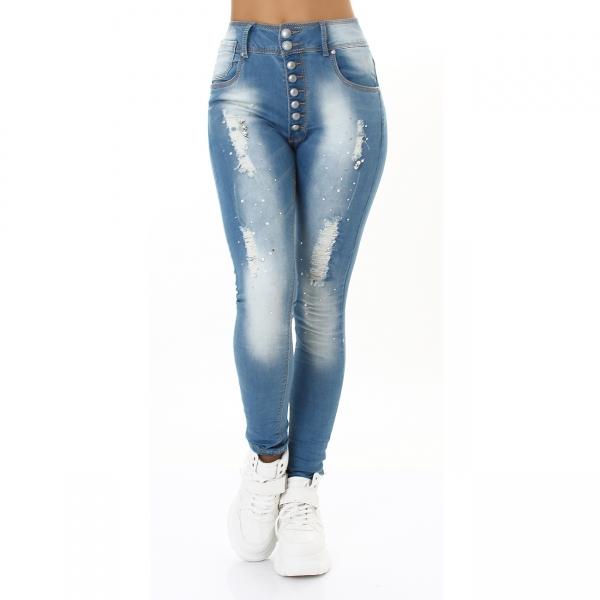 Jeans with Rinestones HX002