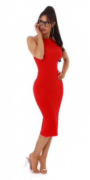 Sexy Fine Rib Dress Backless
