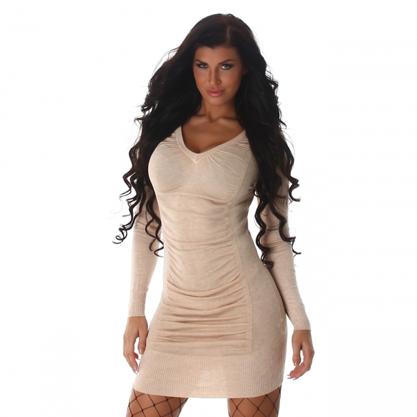 Sexy V-Ausschnitt Kleid hinten zum Schnüren