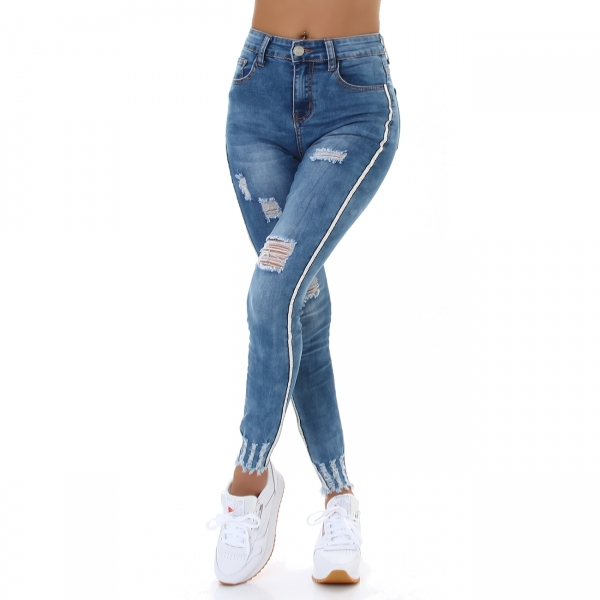 Sexy Skinny Jeans Destroyed