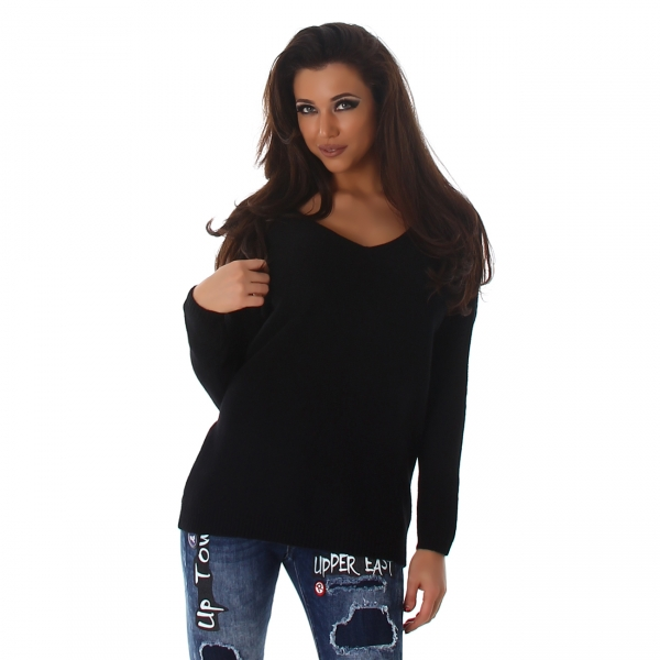 Sexy Sweater with V-Neck