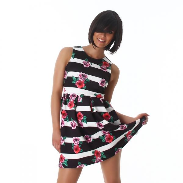 Sexy Kleid mit Flower Print