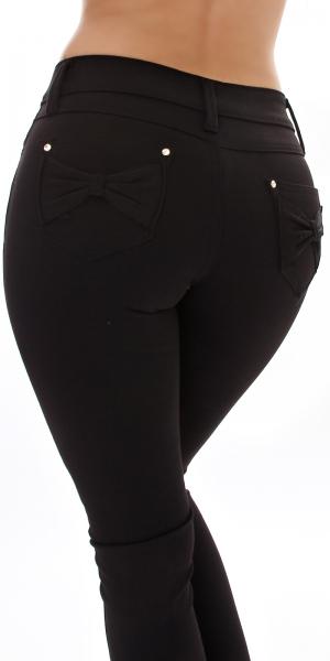 Sexy Skinny Hose mit Schleife hinten