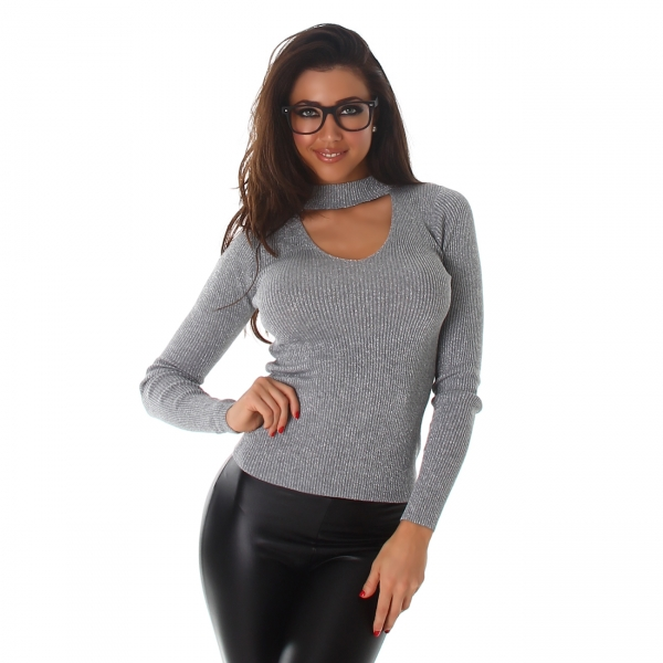 Sweater with V-Neck C613