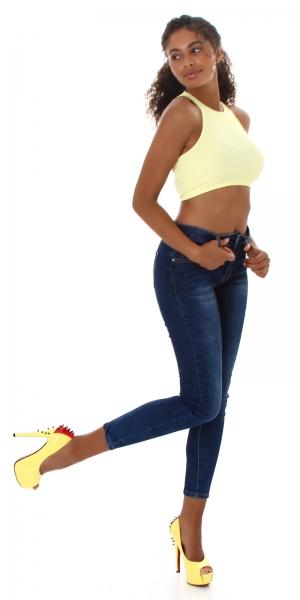 Sexy Jeans mit Reissverschluss Hinten