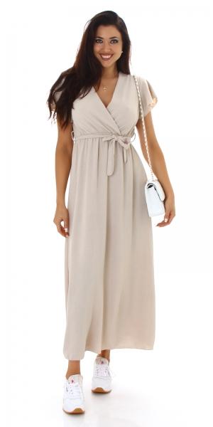 Sexy Wrap Style Maxi Dress
