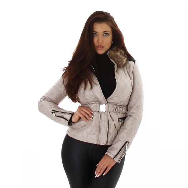 Sexy Jela London Jacket with Fur Collar