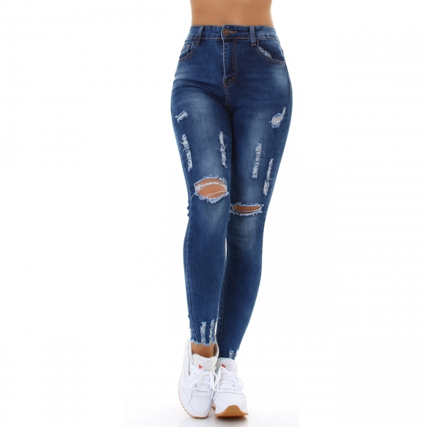 Sexy Skinny Jeans High Waist Destroyed