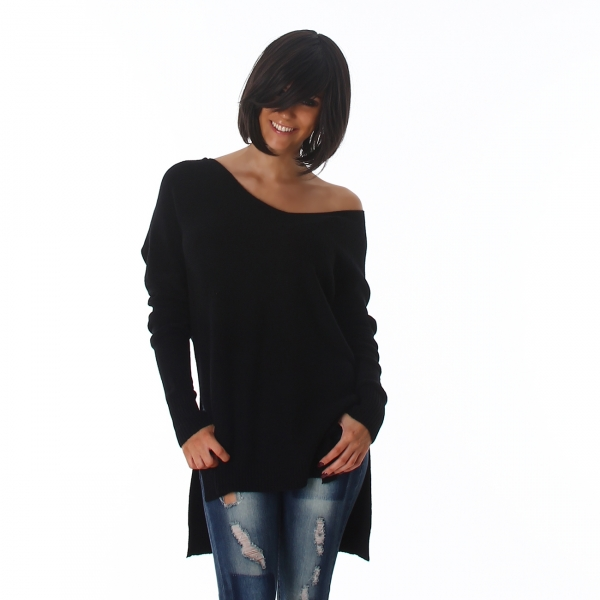 Sexy Oversize Sweater with V-Neck
