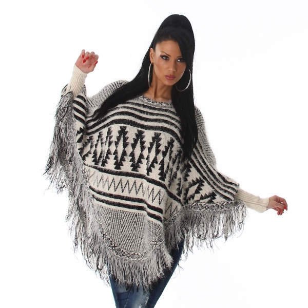 Sexy Poncho with Fringes