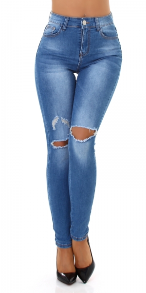 Sexy Skinny Jeans with Rips