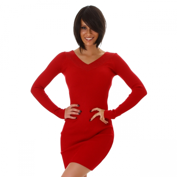 Sexy Knitted Dress with Rhinestones MC7566