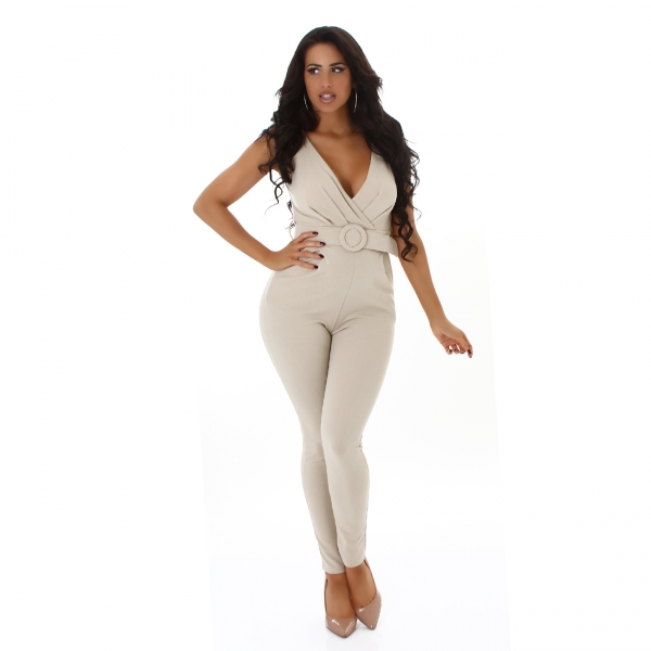 Sexy Overall V-Neck with Belt