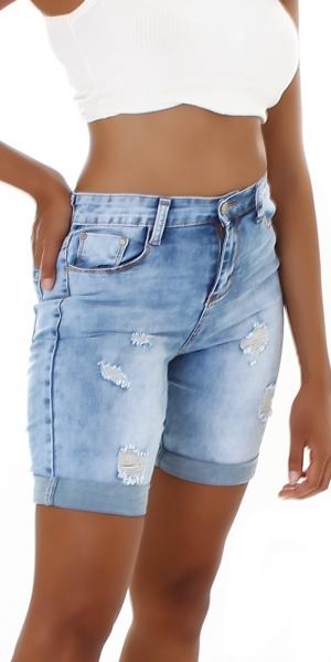Sexy High Waist Jeans Short Destroyed