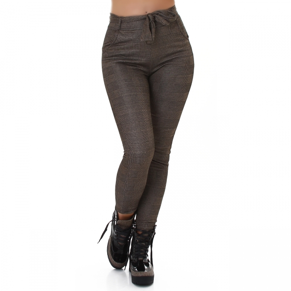 Sexy High Waist Thermo Pants to Tie