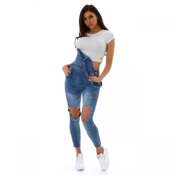 Jeans Latzhose E252