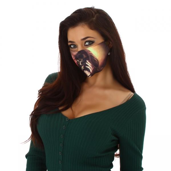 Sexy Stoffmaske mit Print