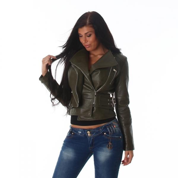 Sexy Leather Imitation Jacket