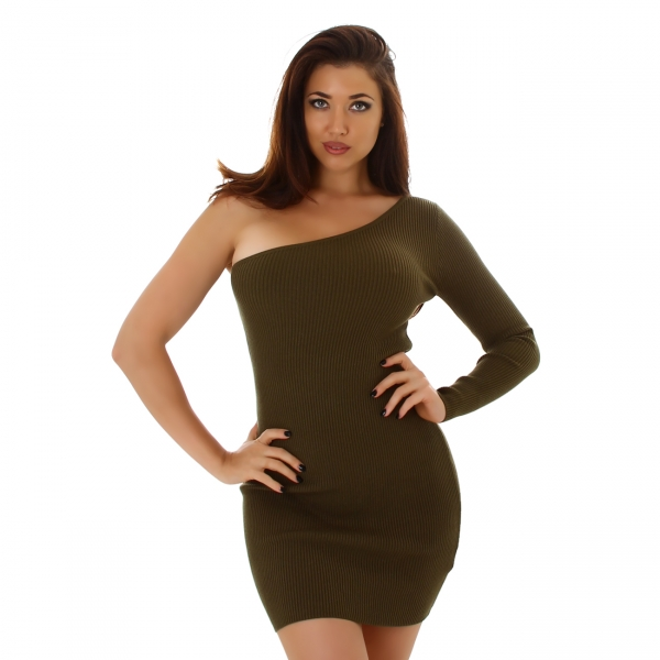 Sexy One-Shoulder Knitted Dress