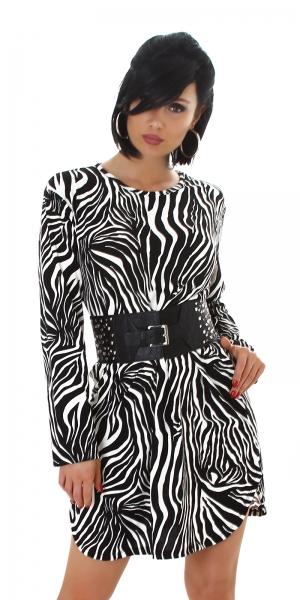 Sexy Kleid Zebra Optik