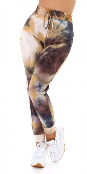 Sexy Sweatpants with Drawstring around the Waist, Batik