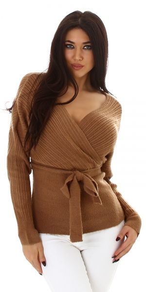 Sexy Sweater in Wrap Look