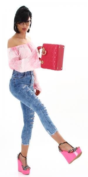 Sexy Skinny Highwaist Jeans Destroyed