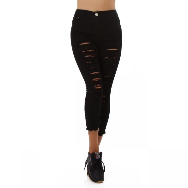 Sexy High Waist Skinny Pants with Cracks