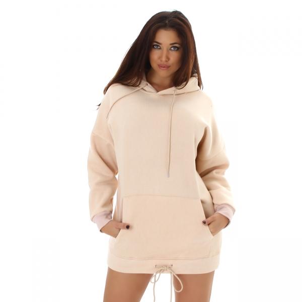 Sexy Oversized Sweatkleid mit Kapuze