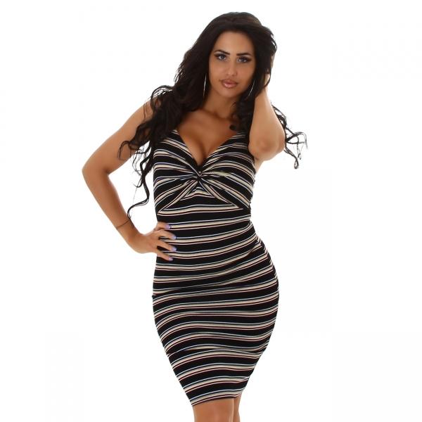 Sexy Dress V-Neck with Stripes