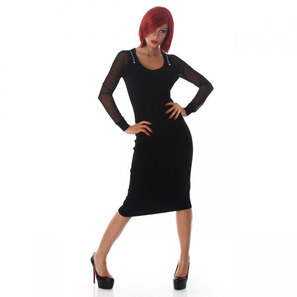 Sexy Feinripp Kleid Transparent