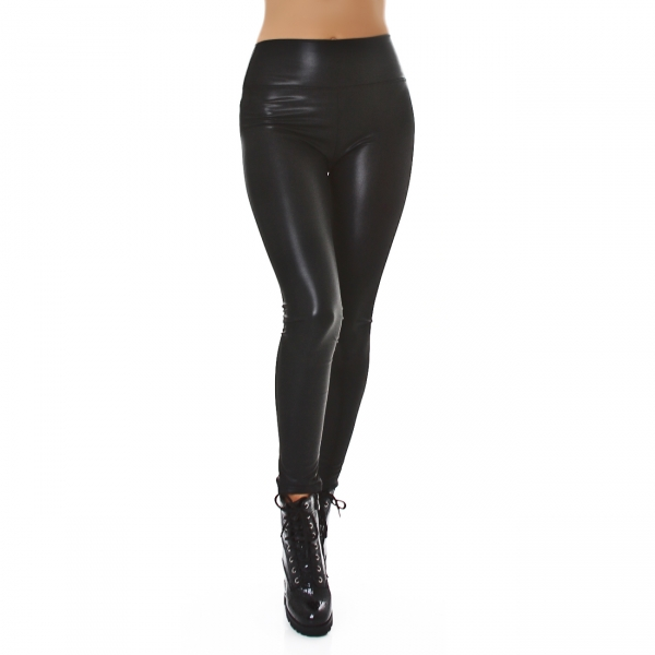 Sexy Thermo Curvy Leggings Faux Leather