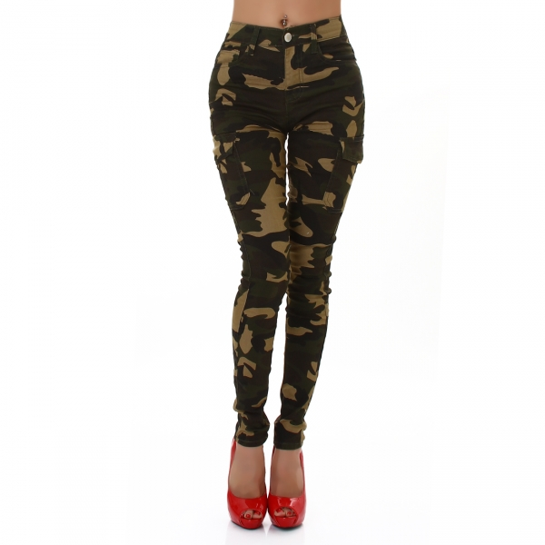 Sexy Skinny Cargo Trouser with Camouflage