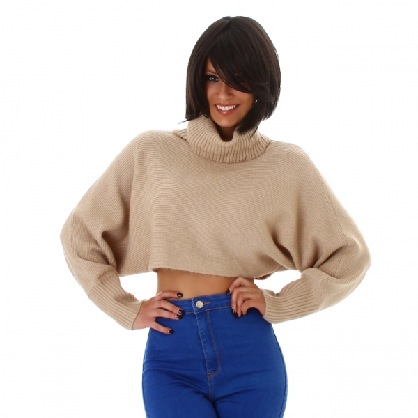 Sexy Crop Knitted Sweater MC8366L