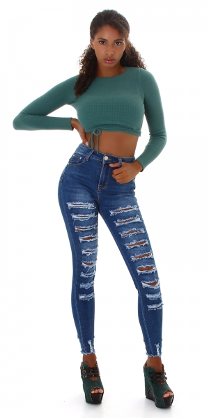 Sexy High Waist Jeans Destroyed Push-Up