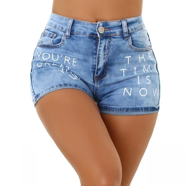 Sexy Jeans Short mit Print