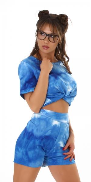 Sexy Set T-Shirt & Shorts Batik Look