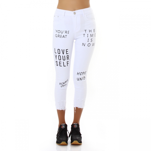 Sexy 7/8 Skinny Pants with Print