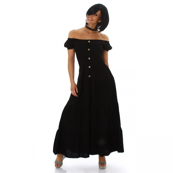 Sexy Maxi Dress Carmen Neckline