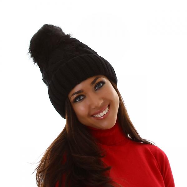 Sexy Knitted Pom-Pom Cap DM22705