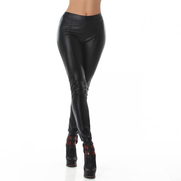 Thermo Imitation Leather Leggings TS818