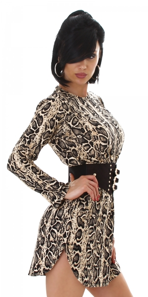 Sexy Dress with Snake Style Printing